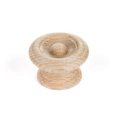 Eclectic 1-1/2 in. (38 mm) Unfinished Maple Round Cabinet Knob