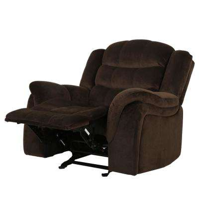 Hawthorne Chocolate Fabric Glider Recliner