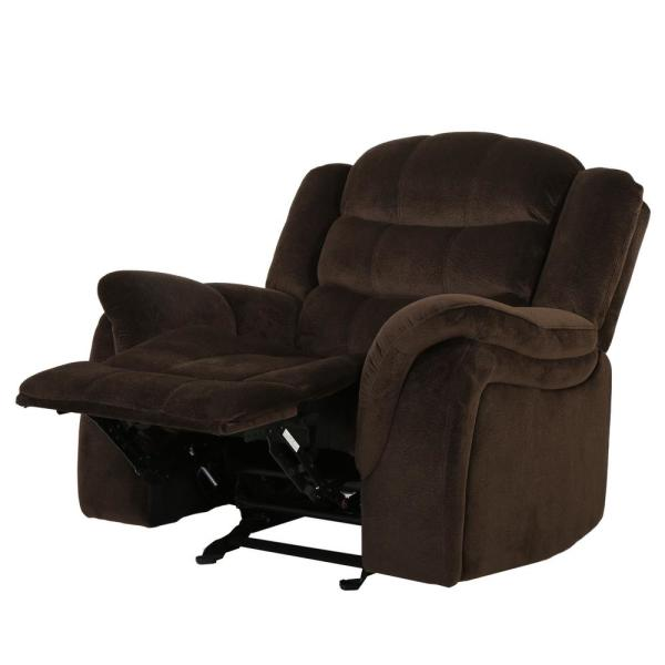 Noble House Hawthorne Chocolate Fabric Glider Recliner