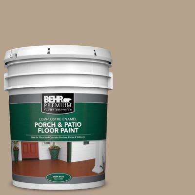 5 gal. #PFC-33 Washed Khaki Low-Lustre Enamel Interior/Exterior Porch and Patio Floor Paint