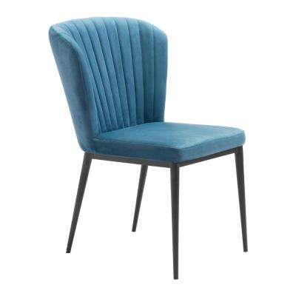 Tolivere Blue Velvet Dining Chair (Set of 2)