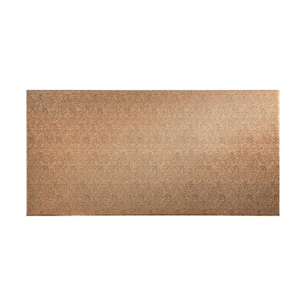 96 in. x 48 in. Hammered Decorative Wall Panel in Cracked