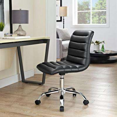 Ripple Armless Mid Back Office Chair in Black