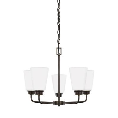Kerrville 5-Light Heirloom Bronze Single Tier Chandelier