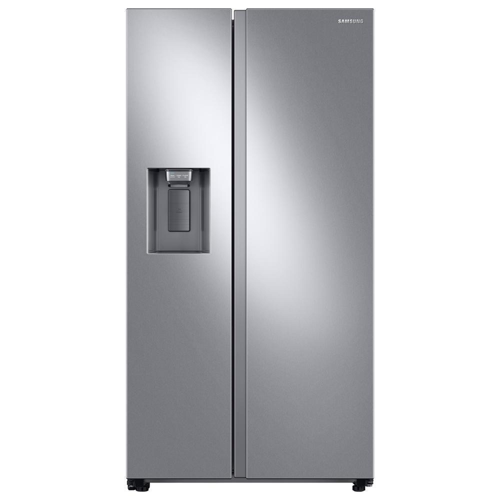 22.0 cu. ft. Side by Side Refrigerator in Fingerprint Resistant Stainless Steel, Counter Depth