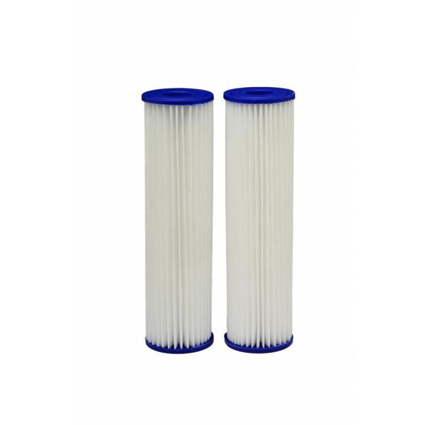 Universal Fit Pleated Whole House Water Filter (2-Pack) - Fits Most Major Brand Systems