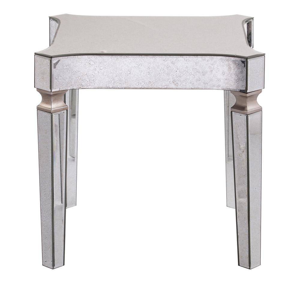 Southern Enterprises Carlyn Antique Mirrored Glam End Table - Southern Enterprises Carlyn Antique Mirrored Glam End Table-HD652443