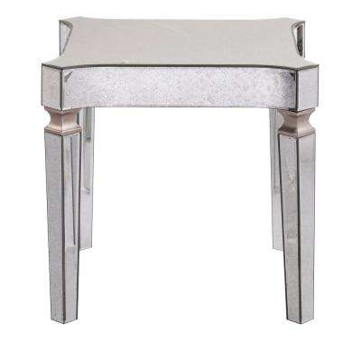 Carlyn Antique Mirrored Glam End Table