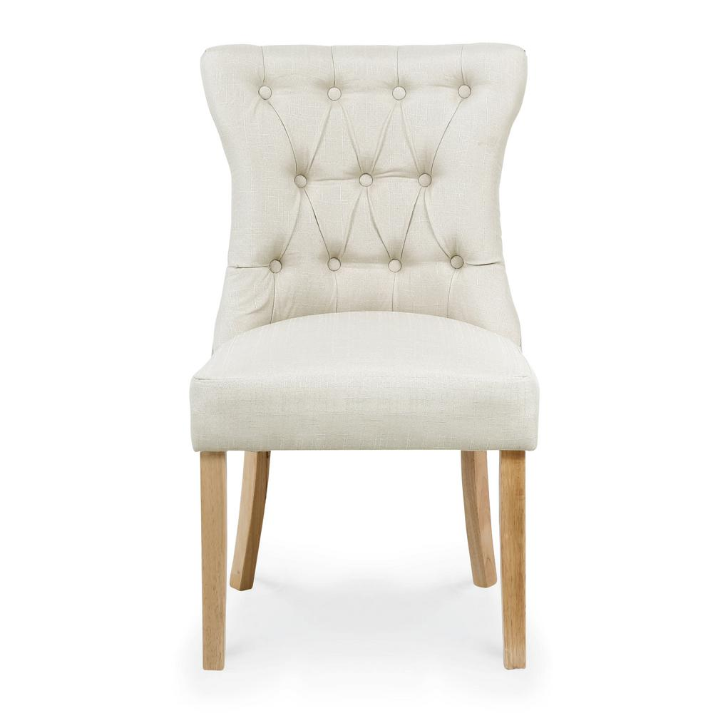 EDGEMOD Odessa Ivory Dining Chair (Set of 2), Ivory/Natural was $343.81 now $206.28 (40.0% off)