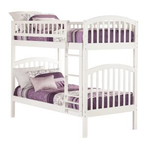 Richland White Twin Over Twin Bunk Bed