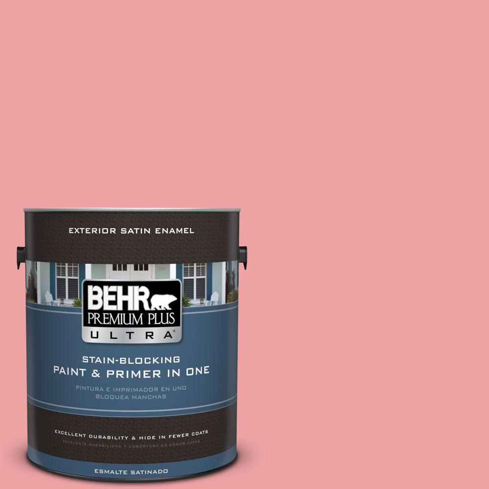 BEHR Premium Plus Ultra 1-gal. #P170-3 Infatuation Satin Enamel Exterior Paint