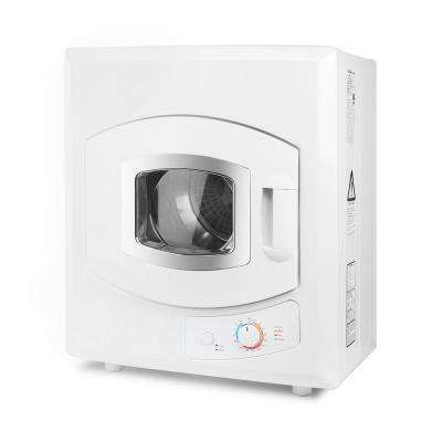 2.6 cu. ft. Portable Stainless Steel Tumble Dryer with Automatic Drying Mode in White (8.8 lb. Capacity)