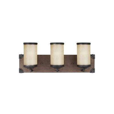 Dunning 3-Light Stardust and Cerused Oak Wall Sconce