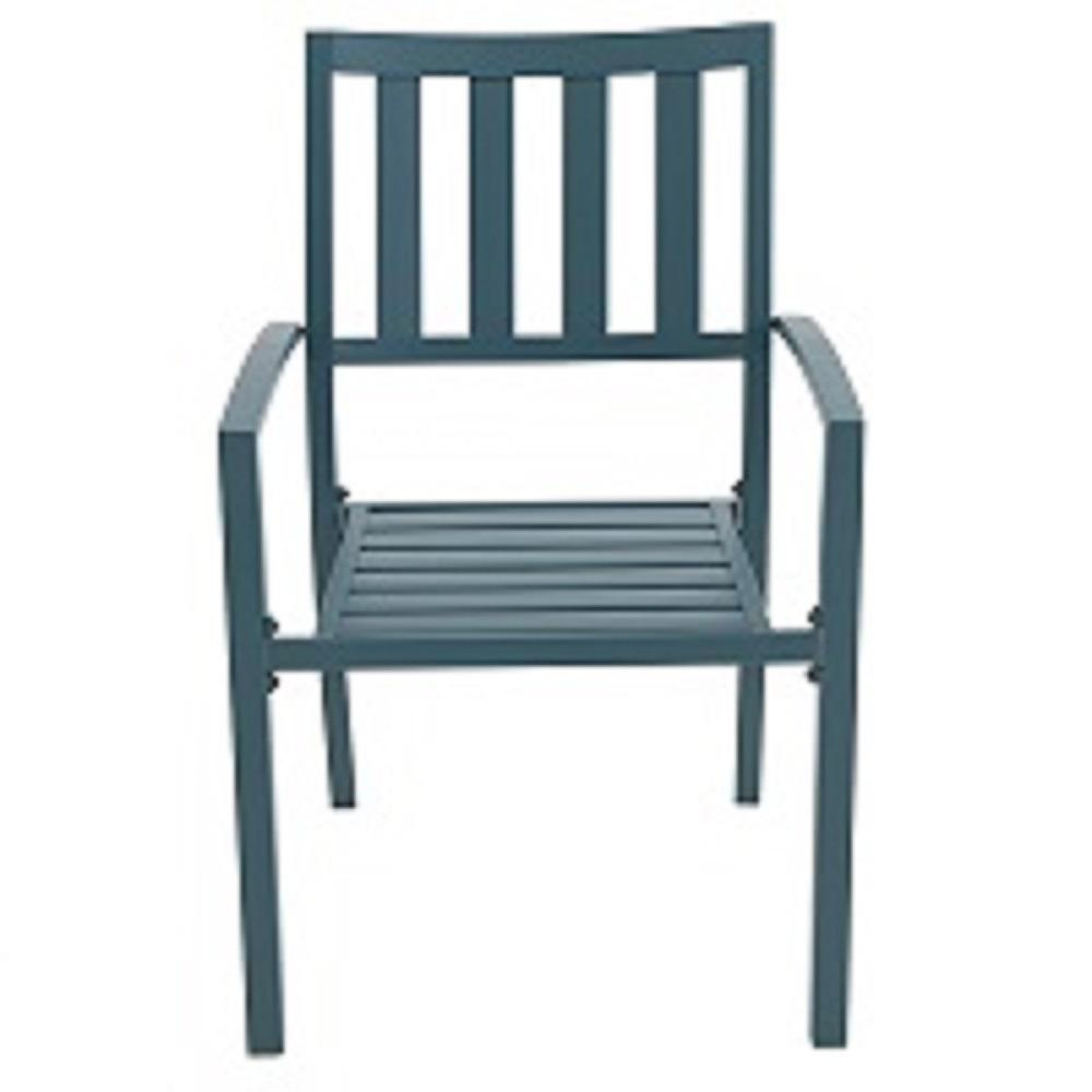 Hampton Bay Mix And Match Charleston Metal Slat Outdoor Dining Chair 2 Pack