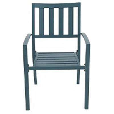 Mix and Match Charleston Metal Slat Outdoor Dining Chair (2-Pack)