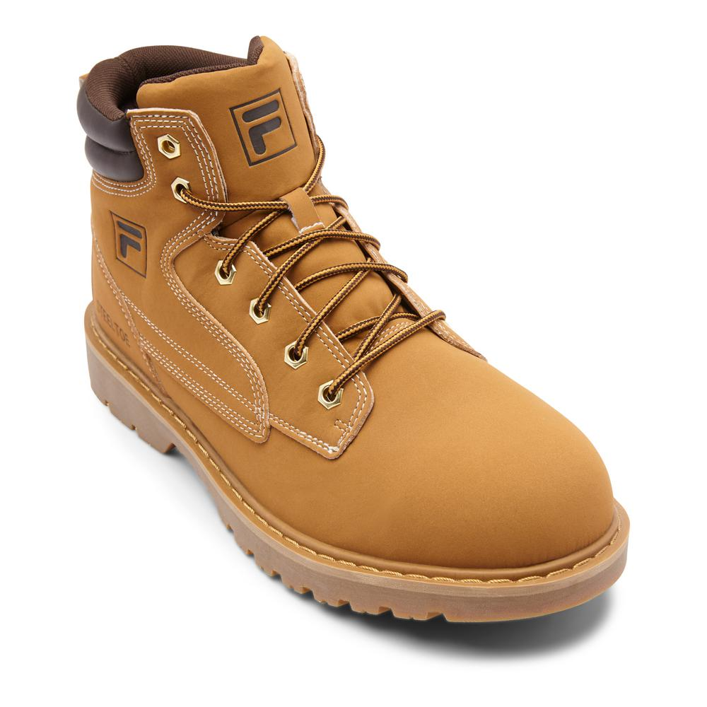 33437fdd79a Fila Landing Steel Men Size 11 Wheat/Espresso Synthetic Steel Toe Work Boot