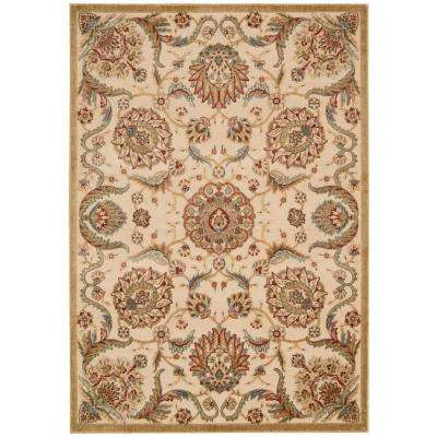 Graphic Illusions Beige 5 ft. x 7 ft. Area Rug