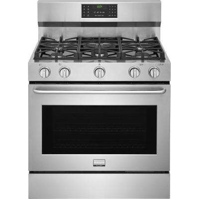 36 in. 6 cu. ft. Freestanding Gas Range with Convection, Self-Clean in Stainless Steel