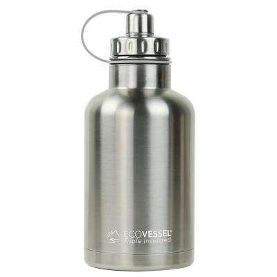 64 oz. Boss Triple Insulated Growler with Screw Cap - Silver Express