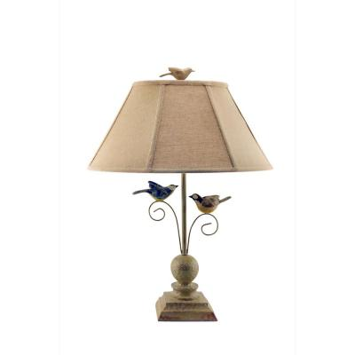 24 in. Tan Table Lamp