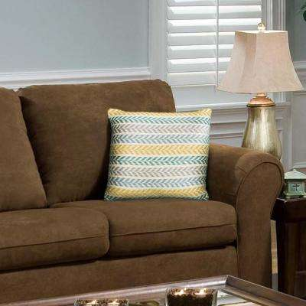 Altair Yellow/Green Chevron Decorative Pillow
