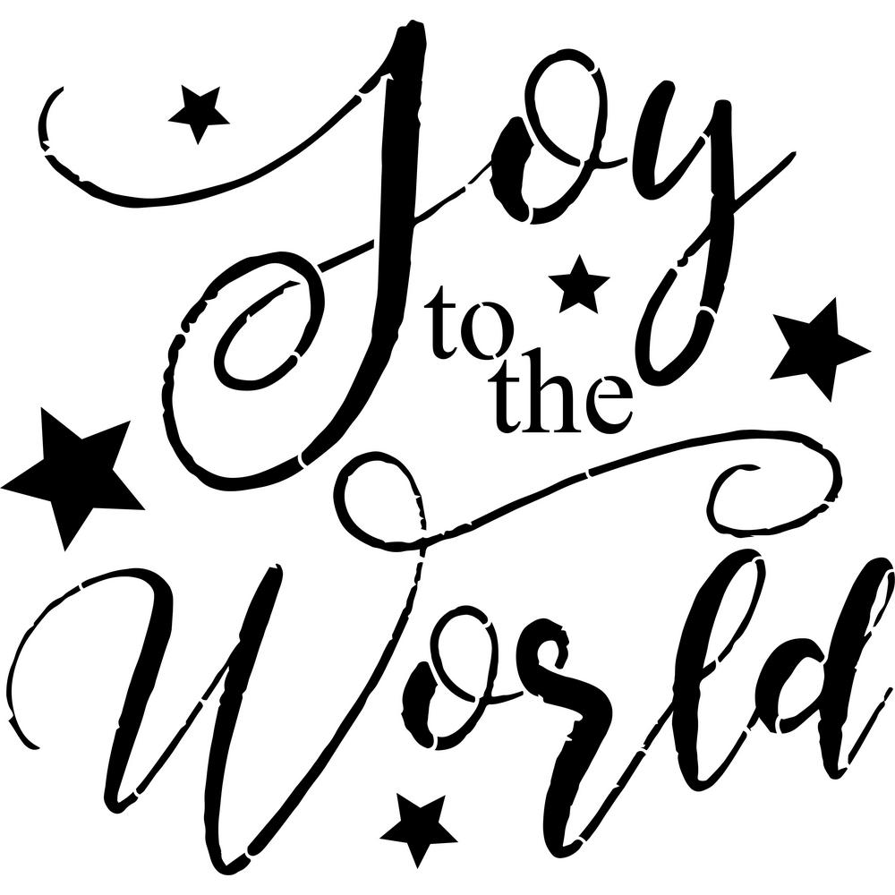 Designer Stencils Quot Joy To The World Quot Sign Stencil Fs049