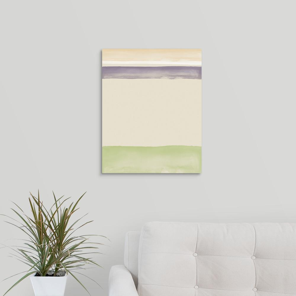 Greatcanvas Purple And Sage Watercolor By Amy Mings Canvas Wall Art