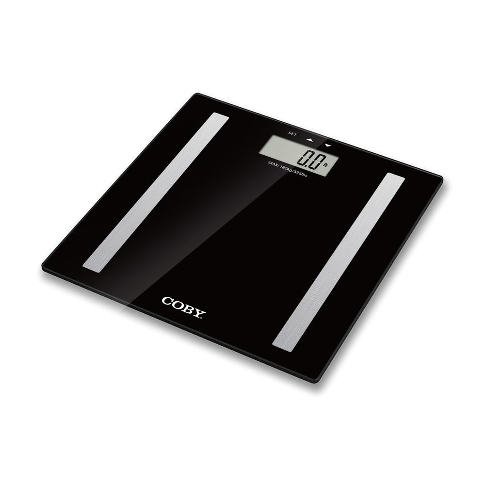 Coby Digital Body Analysis Bathroom Scale Cbs 613 Bk The Home Depot