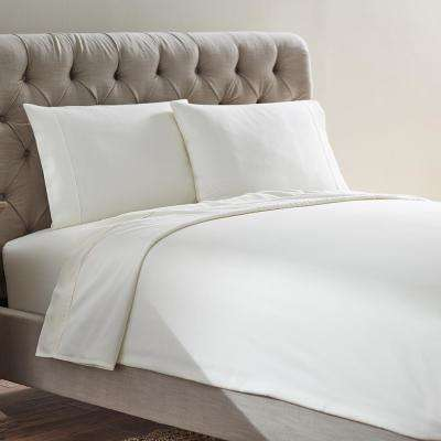 Naples 4-Piece Ivory Tusk Cotton Queen Sheet Set