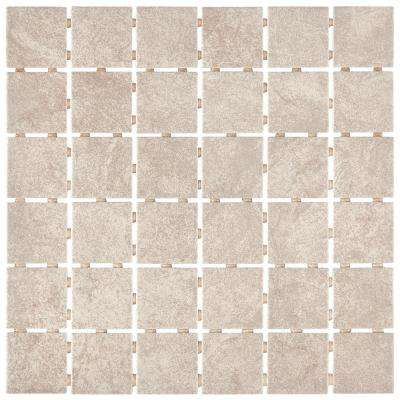 Portland Stone Gray 12 in. x 12 in. x 6.35 mm Ceramic Mosaic Floor and Wall Tile (1 sq. ft. / piece)