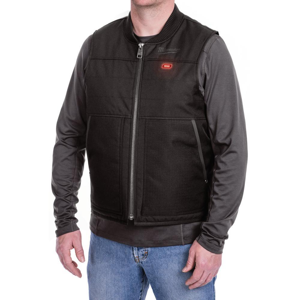 Men's Large M12 12-Volt Lithium-Ion Cordless Black Ribstop Heated Vest Kit