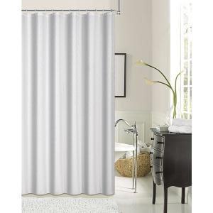 Kingston 70 inch White Shrink Yarn Shower Curtain by