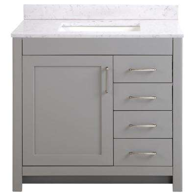 single sink gray bathroom vanities bath the home depot rh homedepot com