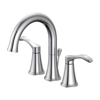 Sterling Collection 8 in. Widespread 2-Handle Bathroom Faucet with 50/50 Pop-Up in Chrome