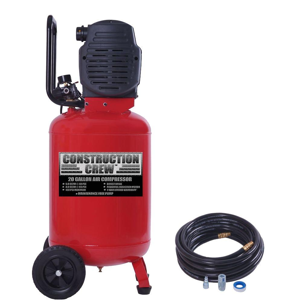 null 20 gal. Portable Electric Air Compressor with 25 ft. PVC Hose