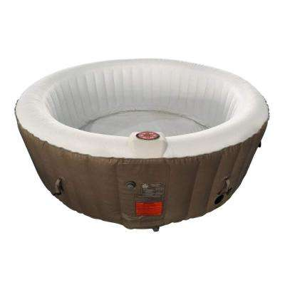 4-Person 130-Jet Inflatable Hot Tub Spa with Cover