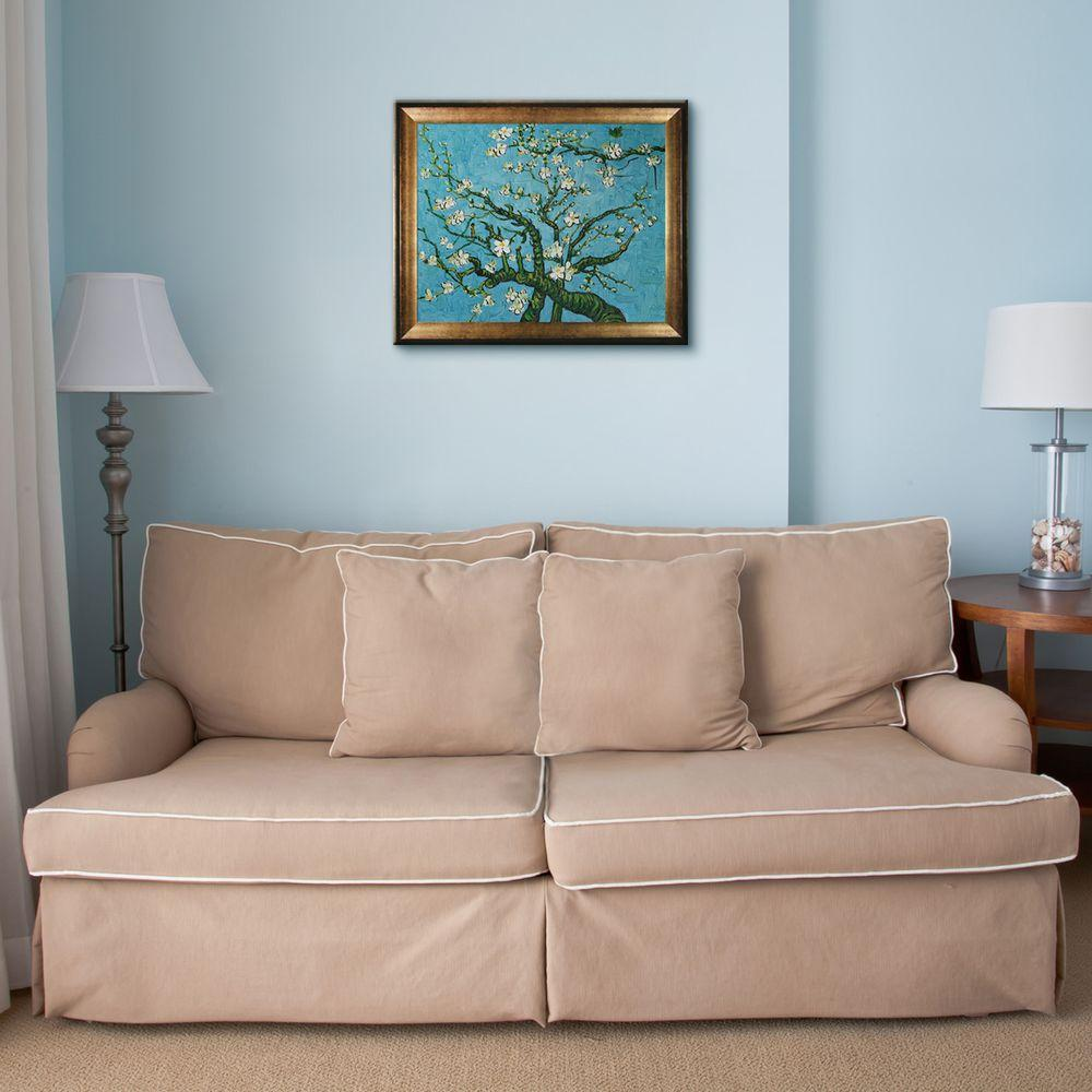 null 16 in. x 20 in. Branches of an Almond Tree in Blossom Hand-Painted Framed Oil Painting