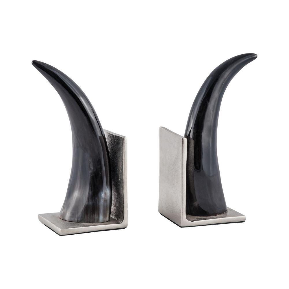 Abilene Natural Horn Bookends - Set of 2