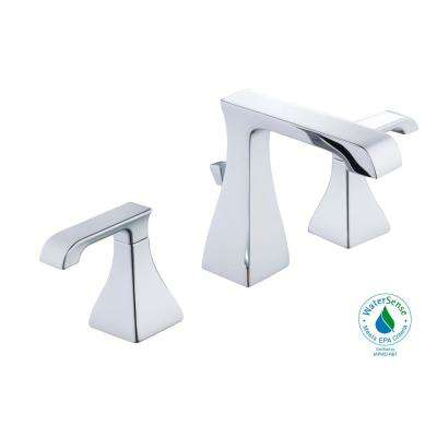 Adelyn 8 in. Widespread 2-Handle High-Arc Bathroom Faucet in Chrome
