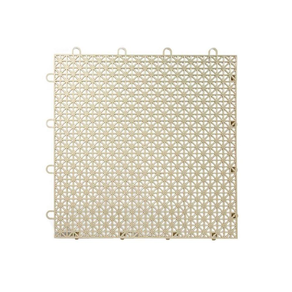 Armadillo Tile Buckskin Beige 12 in. x 12 in. Polypropylene Interlocking