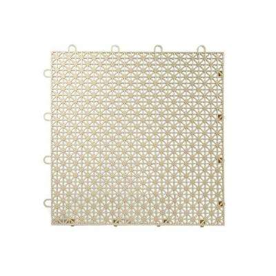 Armadillo Tile Buckskin Beige 12 in. x 12 in. Polypropylene Interlocking Multipurpose Floor Tile (9-Pack)