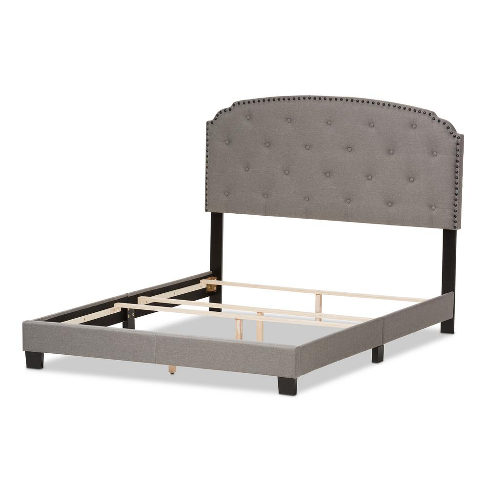 Lexi Gray Fabric Upholstered Full Bed