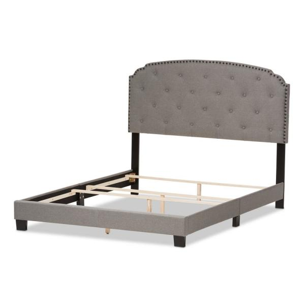 Baxton Studio Lexi Gray Fabric Upholstered Queen Bed 28862-7440-HD