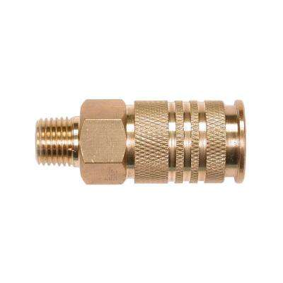 10-Piece 1/4 in. Brass 6-Ball Male Universal Coupler
