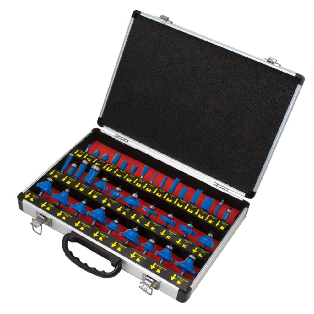 Carbide Universal Router Bit Set (35-Piece)