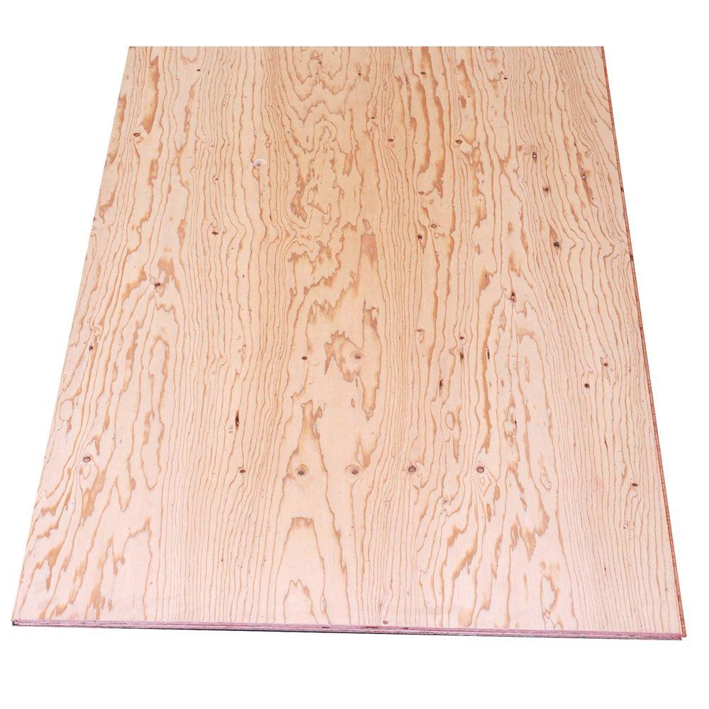 T Amp G Sheathing Plywood Common 19 32 In X 4 Ft X 8 Ft
