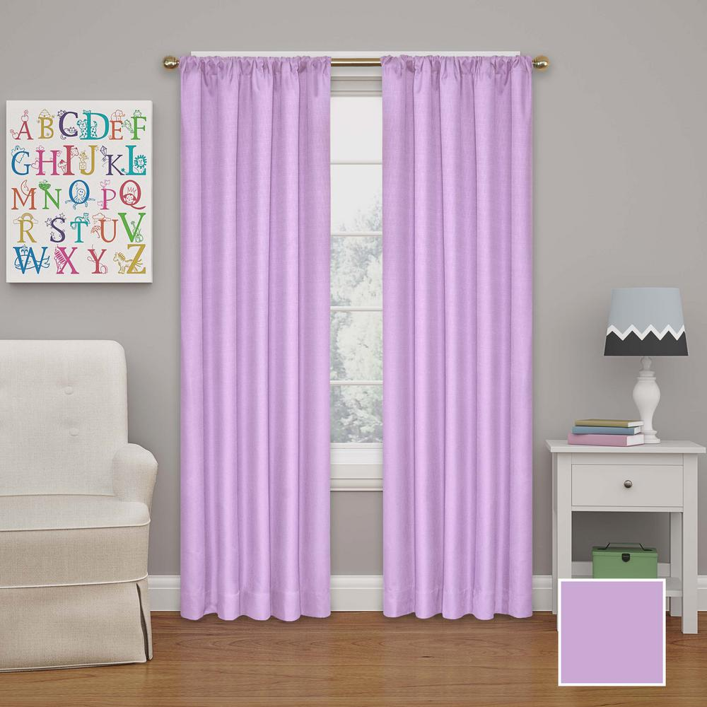 L Polyester Curtain In Light Purple