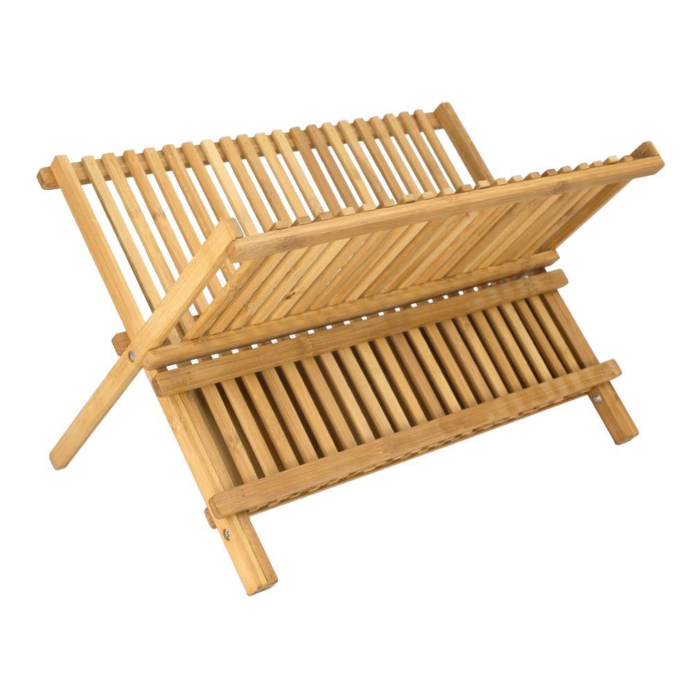 Foldable Bamboo Dish Drainer