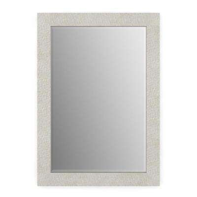 33 in. x 47 in. (L1) Rectangular Framed Mirror with Deluxe Glass and Flush Mount Hardware in Stone Mosaic