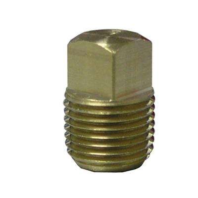 1/8 in. MIP Lead-Free Brass Pipe Square Head Plug